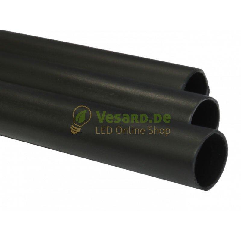 50 Meter SCHWARZ Schrumpfschlauch 12,7 // 6,4 mm